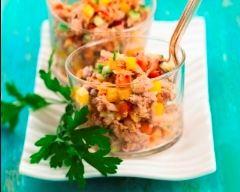 Recette salade froide de thon, maïs et poivrons