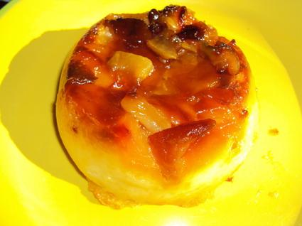 Recette de flans miniatures aux pommes caramélisées