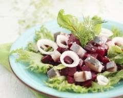 Recette salade de betteraves aux harengs et oeufs durs
