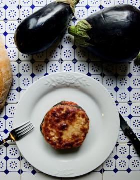 Gratin d'aubergines au parmesan pour 4 personnes