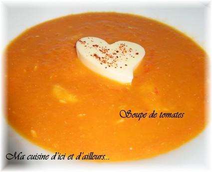 Recette soupe de tomates (potage, soupe)