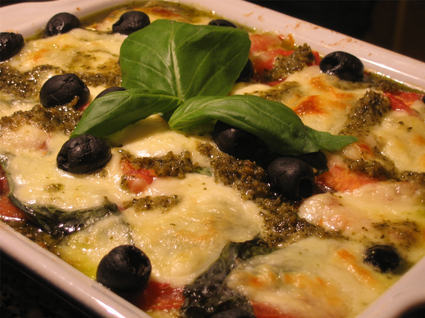 Recette de lasagnes tomates mozzarella au pesto