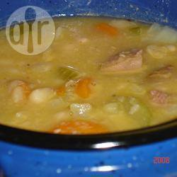 Recette soupe aux haricots secs et au jambon – toutes les recettes ...