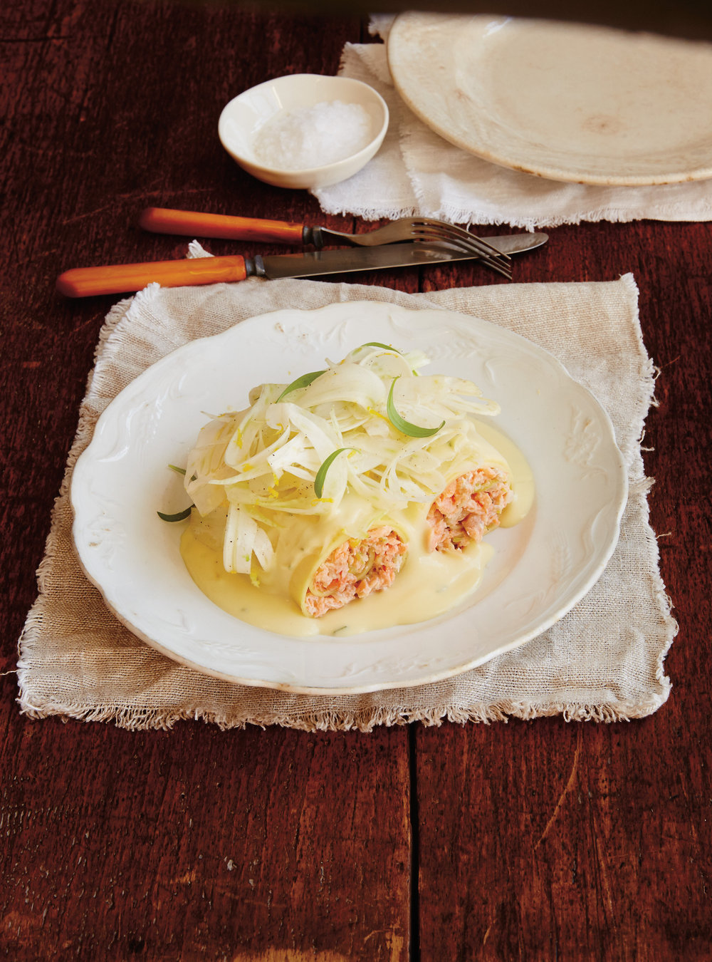 Cannellonis de truite et salade de fenouil | ricardo