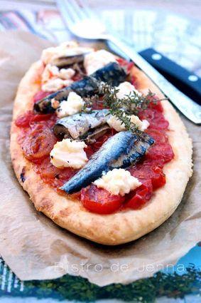Recette de pizzettes aux sardines et ricotta