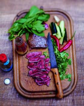 Salade thaïe au bœuf pour 6 personnes