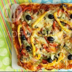 Recette pizza chorizo et poivrons aux trois couleurs – toutes les ...