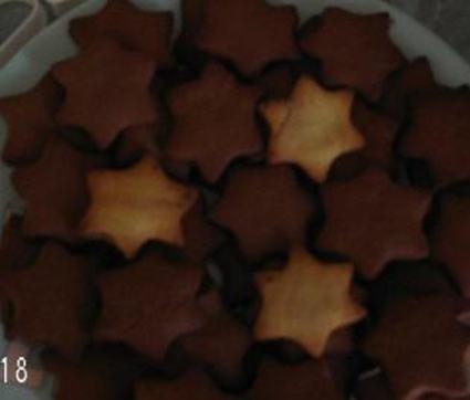 Recette de sablés de noël au sucre vanillé et cacao