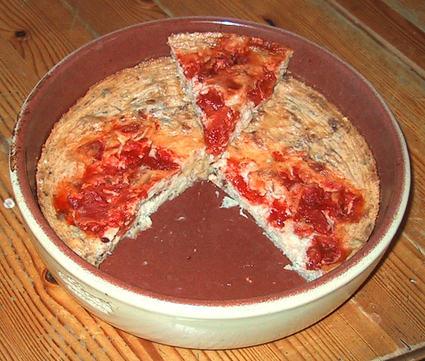 Recette de clafoutis au thon, tomates et paprika