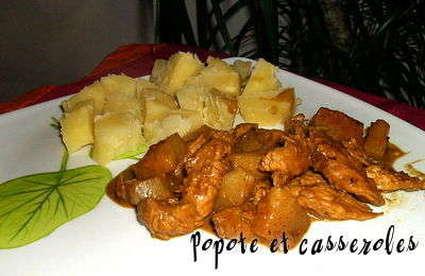 Recette escalopes de dinde à l'ananas et lait de coco