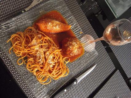 Recette de calamars farcis et ses spaghettis