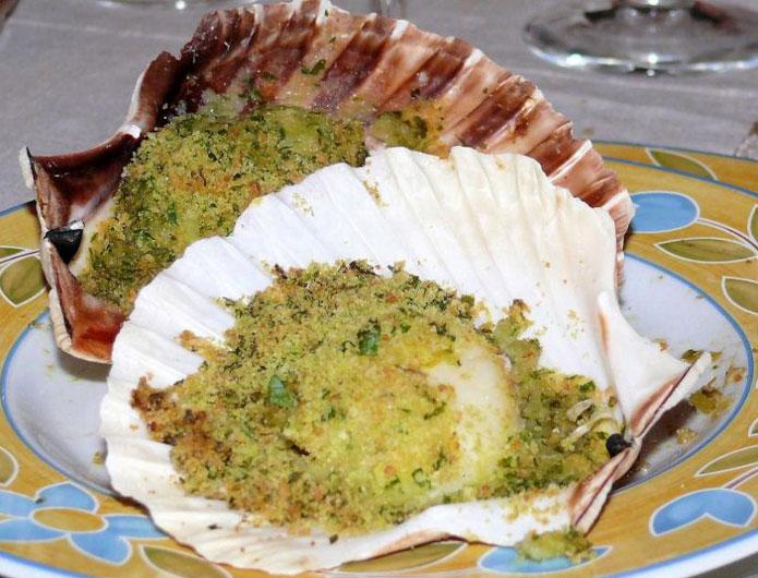 Saint-jacques gratinées : recette italienne