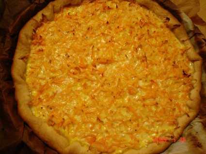 Recette de tarte aux carottes et au comté