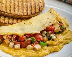 Recette omelette aux tomates séchées et feta