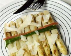 Recette asperges blanches au parmesan