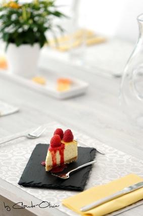 Recette de cheesecake ultramoelleux et sauce framboise