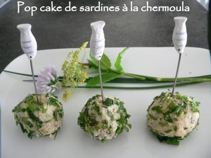 Recette de pop cake de sardines à la chermoula