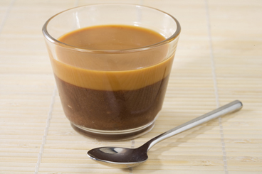 Recette de duo crème de chocolat et sauce caramel facile et rapide
