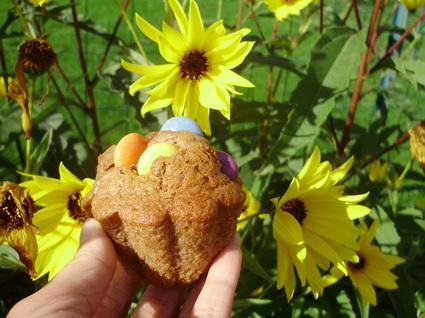 Recette de muffins aux smarties et aux 4 épices