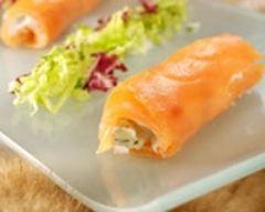 Recette mesclun de salades, saumon et fourme d'ambert