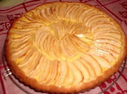 Recette tarte aux pommes sur compote de pommes