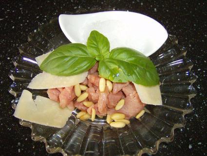Recette de carpaccio au parmesan