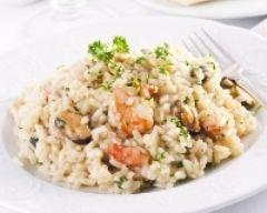 Recette risotto aux moules et aux crevettes