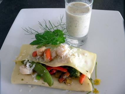 Recette de lasagnes aux st jacques et petits légumes