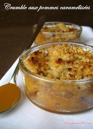 Recette de crumble aux pommes caramélisées