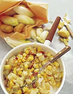 Poêlée d'endives et de pommes de terre pour 4 personnes ...