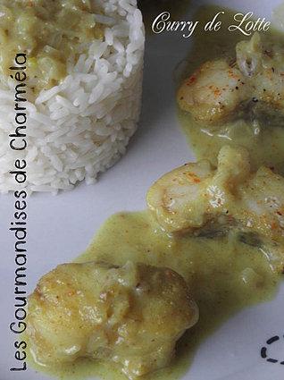 Recette de lotte au curry