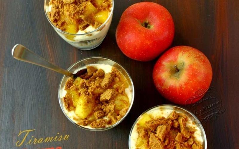 Recette tiramisù d'automne aux spéculoos et pommes, poires ...