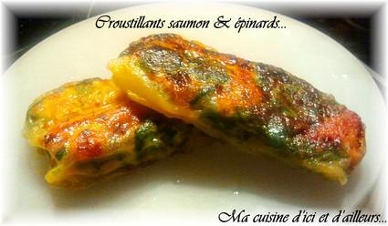Recette de croustillants saumon et épinards