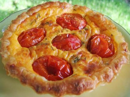 Recette de tartelettes aux tomates cerises et parmesan