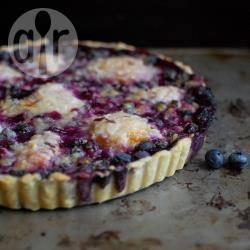 Recette tarte aux myrtilles, pêches et lavande – toutes les recettes ...