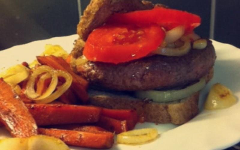 Recette french burger et ses frites de carottes économique et ...