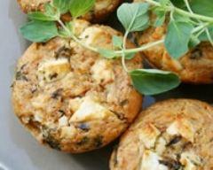 Recette muffins tomates séchées, olives noires et feta