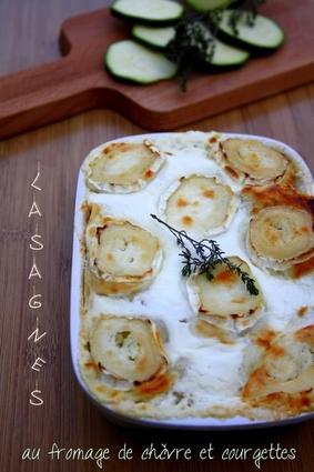 Recette de lasagnes fraîches au fromage de chèvre, courgettes et ...