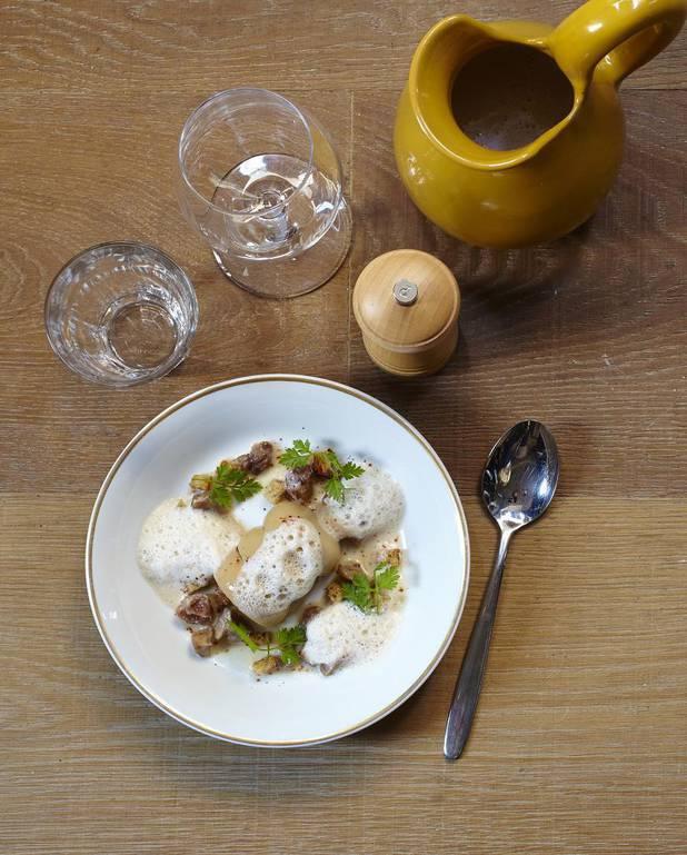 Velouté de châtaigne, royale de foie gras pour 4 personnes ...