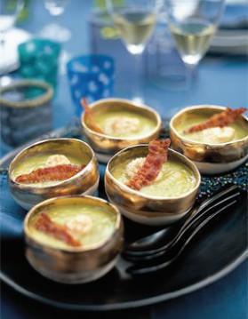 Soupe fine de légumes au lard et aux coquilles st jacques pour 8 ...