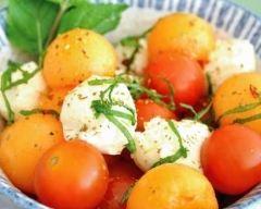 Recette salade de melon, tomates cerise et mozzarella