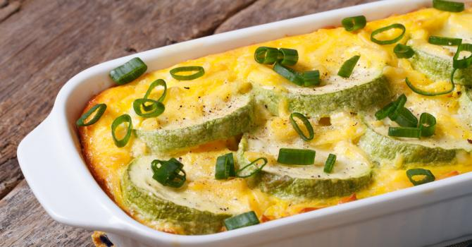 Recette de gratin de courgettes façon omelette