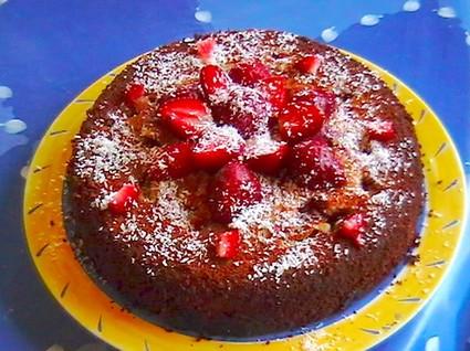 Recette de gâteau aux fraises à la noix de coco