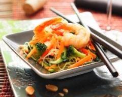 Recette nouilles chinoises sautées aux crevettes