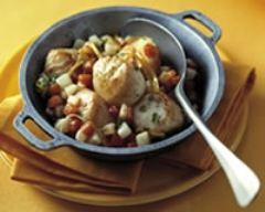 Recette coquilles saint jacques aux petits légumes
