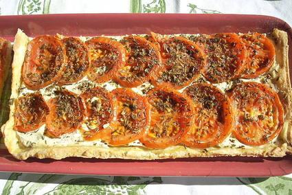 Recette de tarte fine à la ricotta et à la tomate