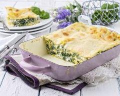 Recette lasagnes aux épinards et chèvre