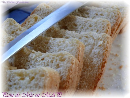 Recette de pain de mie en machine à pain