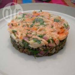 Recette tartare de thon et coquilles saint