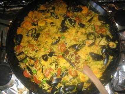 Recette paella de la mer (crevette)